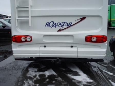 Motorhome towbar finished in black